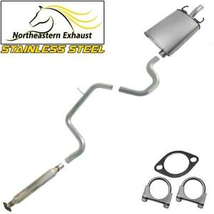 Single Outlet Stainless Steel Exhaust System Kit Fits 2005 08 Grandprix 3 8l