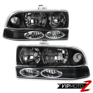 Black Headlight bumper Parking Signal Lamp 1998 2004 Chevy Blazer S10 Pickup