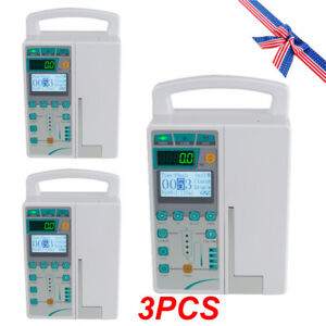 3x Medical Infusion Pump Iv Fluid Infusion With Audible Alarm Human