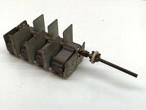 Vintage Muliturn 4 section Variable Capacitor