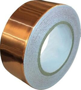 Copper Foil Tape With Conductive Adhesive 1inch X 12yards Slug