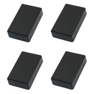 Ocharzy Plastic Black Electronic Project Box Enclosure Case 4 Pcs