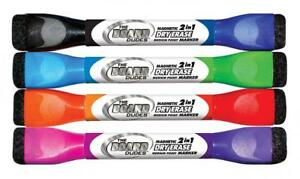 Board Dudes Double sided Magnetic Dry Erase Markers Assorted Colors 4 pack