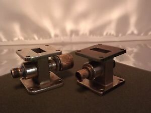 Waveguide Wr90 X band 8 2 12 40ghz Coax Adapter Lot X2
