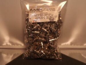 Amp Coaxicon 228435 1 50 Ohm Right Angle Smb Rf Connector Pcb Lot X150 Nos