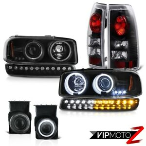 03 06 Sierra Sl Fog Lights Parking Brake Bumper Light Ccfl Headlights Dual Halo