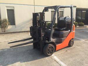 2007 Toyota 7fgcu20 4 000 Lbs Capacity Truckers Short Mast Forklift