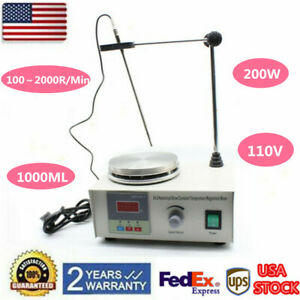 85 2 Hot Plate Magnetic Heating Stirrer Mixer Stirring Laboratory 1000ml 110v Us