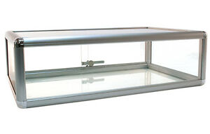 Countertop Glass Showcase Retail Store Merchandise Display 30 lx18 dx9 h New