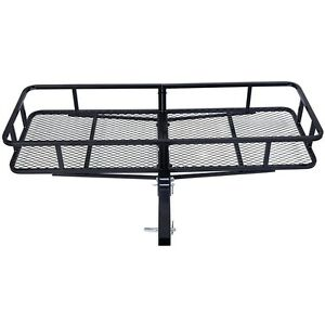 60 Folding Cargo Carrier Luggage Rack Hauler Truck Car Hitch 2 Receiver Pickup