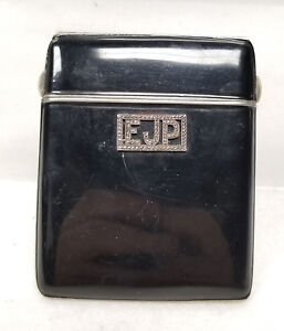 Antique Vintage German Silver Enamel Compact Cigarette Case Germany