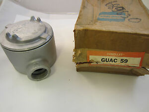 Crouse Hinds Guac59 Explosion Proof Junction Box C Style 1 1 2 New