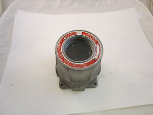 Crouse Hinds Emh521 Explosion Proof Instrument Meter Housing W 3 4 Openings