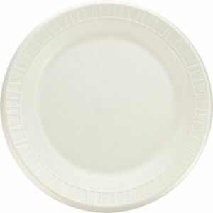Dart 9pwqr 9 Quiet Classic Laminated Foam Dinnerware Plate White 500 Case