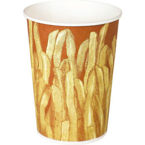 Solo Great Fries Design Grease Resistant Paper French Fry Cup 12 Ounce 1000 Ct