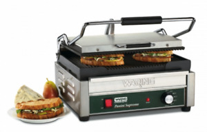 Waring Wpg250 Large Grooved Panini Press Grill