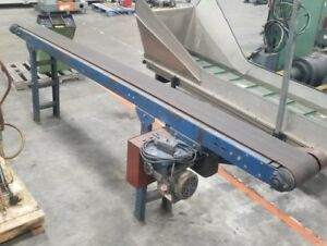 Smooth Flat Belt Conveyor 11 Long 115v 230v Single Phase 3594sr