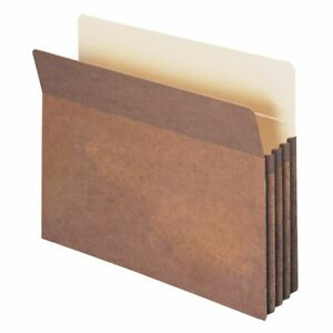 Smead Expanding File Pockets 3 1 2 Expansion Letter Size Redrope 25 pack