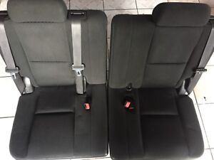 2010 2011 2012 2013 Gmc Tahoe Yukon Xl Suburban Cloth Black Third Row Seats