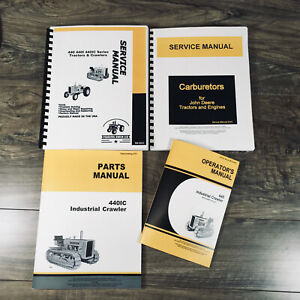Service Parts Operators Manual John Deere 440 440c 440ic Gas Industrial Crawler