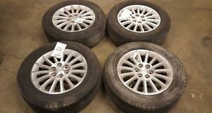 09 10 11 12 Buick Enclave 19x7 1 2 15 Spoke Alloy Wheel And Tire Set Of 4 4079