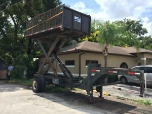 Custom Hydraulic Dump Scissor Lift Gooseneck Trailer One Of A Kind
