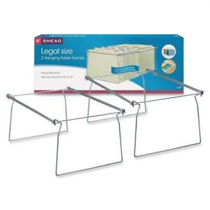 Smead Steel Hanging Folder Frame Legal Size Gray 2 Per Pack 64873