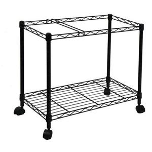 Oceanstar Portable 1 tier Metal Rolling File Cart Black