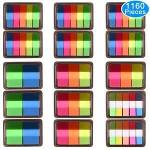 Austor 1160 Pieces Page Marker Tabs Pop up Index Neon Flag Sticky Notes 15