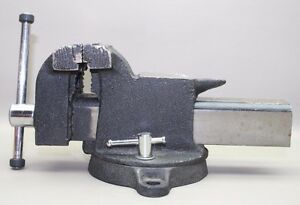 Vintage Vise Tools Made In Taiwan Vise W Swivel Base 4 Inch Jaws Taiwanese