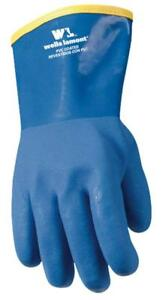 Liquid And Chemical Resistant Heavy Duty Pvc Winter Work Gloves wells