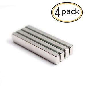 Neodymium Bar Magnet 4 Pcs Super Strong Rare Earth Magnets Extremely