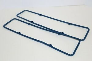 Sbc Blue Steel Core Rubber Valve Cover Gaskets Fits Sb Chevy 305 327 350 383 400