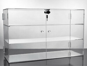 Acrylic Small Countertop Display Showcase Rack 3 Shelves Fixture 21 w X 13 h New