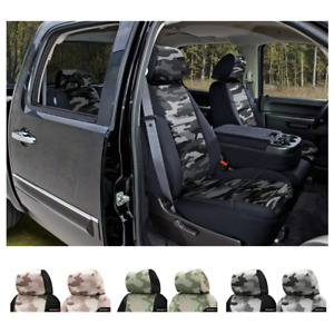 Coverking Traditional Military Camo Custom Seat Covers For Chevy Avalanche