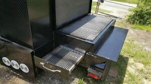 Night Bbq Smoker Side Grill Trailer Food Truck Catering Street Vendor Concession