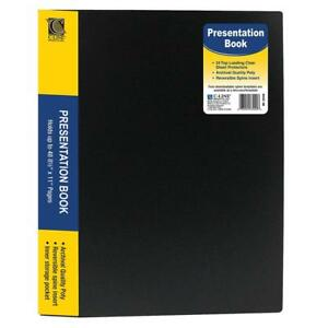 C line 24 pocket Bound Sheet Protector Presentation Book 48 page Capacity