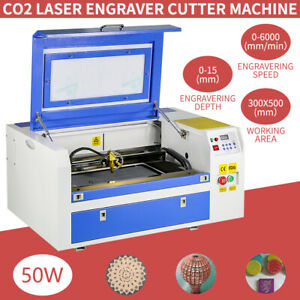 110v Usb Port 50w Co2 Laser Engraving Machine Engraver Cutter