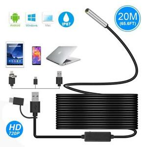 Usb Endoscope Ihong 3 In 1 20m 720p 5 5mm Hd Borescope Inspection Camera