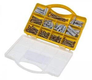 Brackit 206 Pc Screws Anchors Set Large Assorted Drywall Plugs For