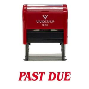 Past Due Office Self inking Rubber Stamp red M