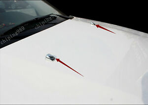 2pcs For Jeep Car Abs Chrome Windshield Washer Wiper Nozzle Cover Trim