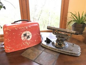 Vintage David White 8114 Builder s Transit Scope Level And Hardshell Case