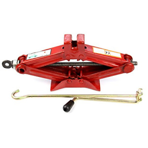 Okeler 1 Ton Scissor Jack For Rv Car Motorcycle Lifting Home Emergency Red
