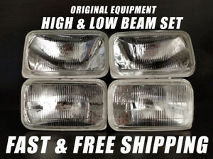 Oe Fit Headlight Bulb For Pontiac Firebird 1998 2002 Low High Beam Set Of 4