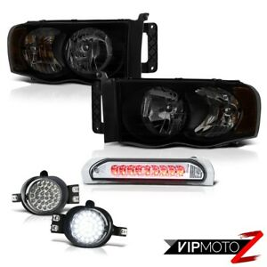 2002 2006 Dodge Ram 1500 Srt 10 Smoke Tinted Headlamps Fog Lights Roof Cab Light