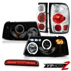 Halo Headlights Smoke Brake Lamps Tail Lights Roof Led Red 2001 2011 Ford Ranger