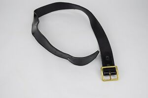 Gould Goodrich 3605 Size 36 Black Leather Police Belt Gold Buckle