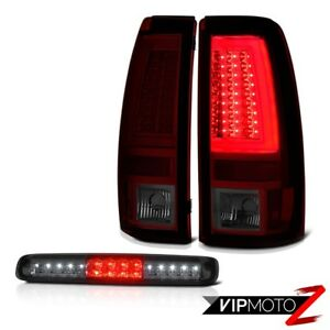 2003 2006 Chevy Silverado Smokey Red Tail Lights Roof Cab Lamp Frosty Neon Tube