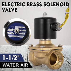 1 1 2 110 Volts Ac Electric Solenoid Valve Water Gravity Feed Duty